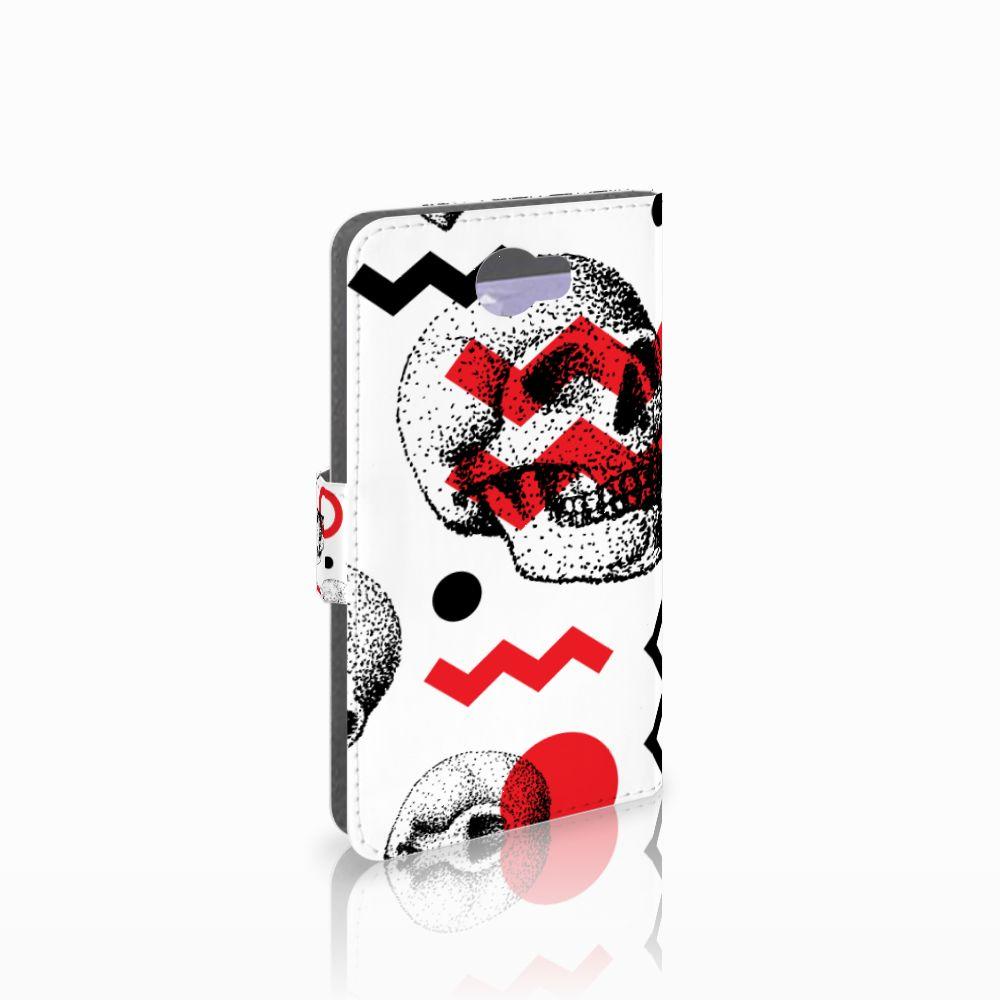 Huawei Y5 2 | Y6 II Compact Boekhoesje Design Skull Red