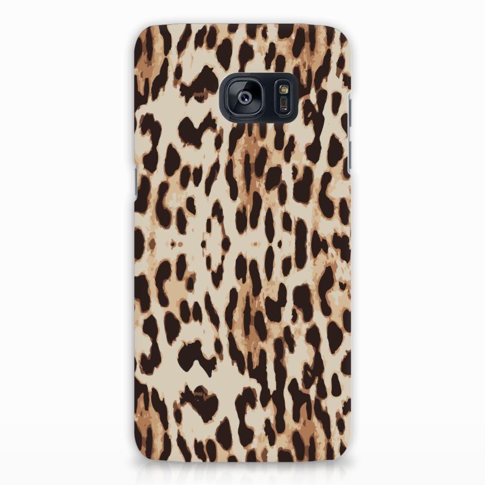 Samsung Galaxy S7 Edge Uniek Hardcase Hoesje Leopard