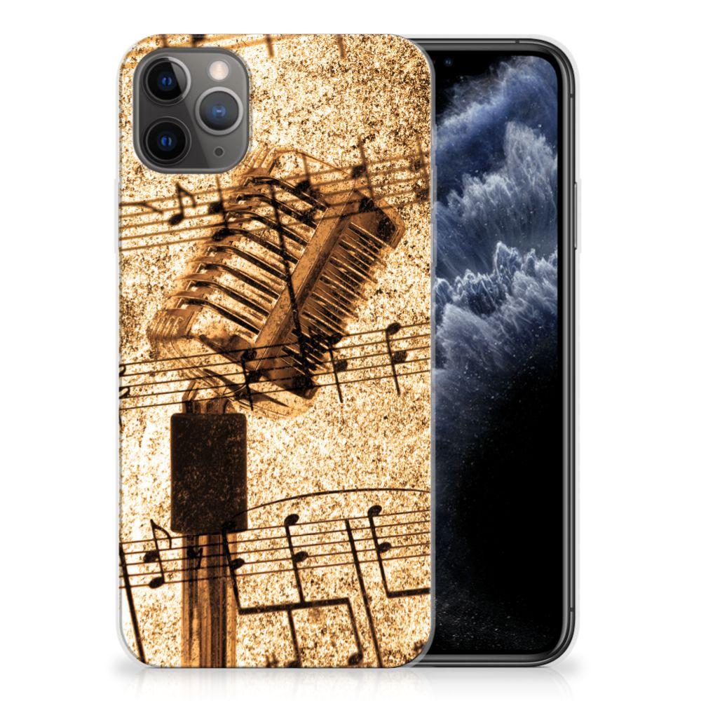 Apple iPhone 11 Pro Max Siliconen Hoesje met foto Bladmuziek