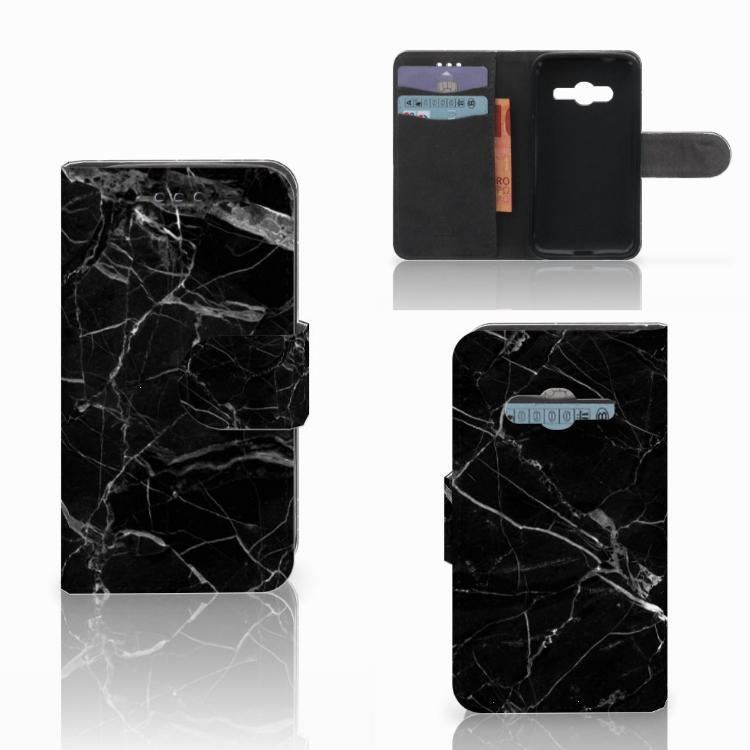 Samsung Galaxy Trend 2 Bookcase Marmer Zwart