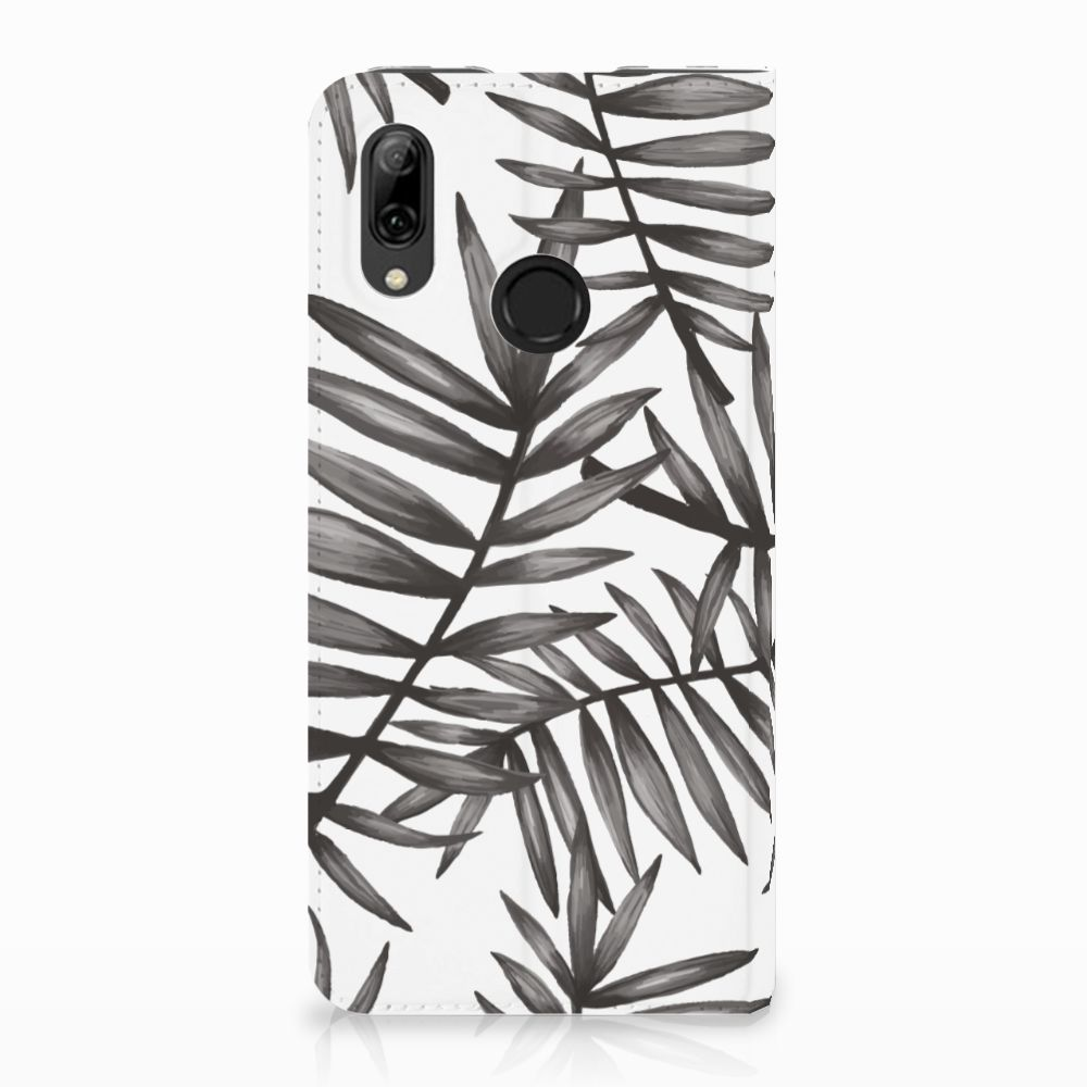 Huawei P Smart (2019) Uniek Standcase Hoesje Leaves Grey