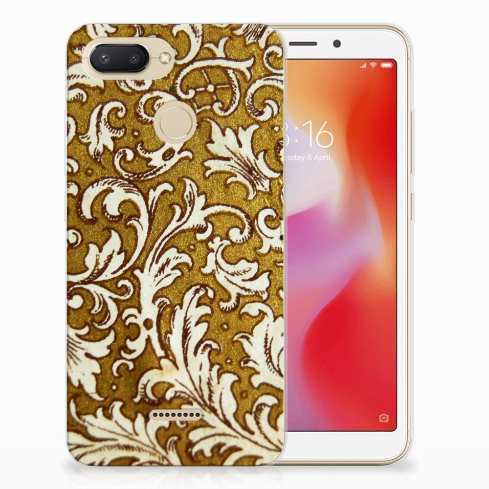 Siliconen Hoesje Xiaomi Redmi 6 Barok Goud
