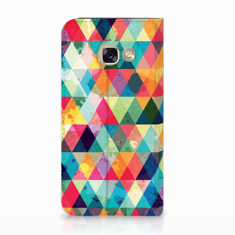 Samsung Galaxy A3 2017 Uniek Standcase Hoesje Geruit