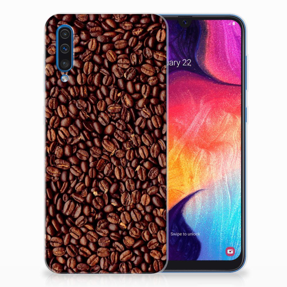 Samsung Galaxy A50 Siliconen Case Koffiebonen