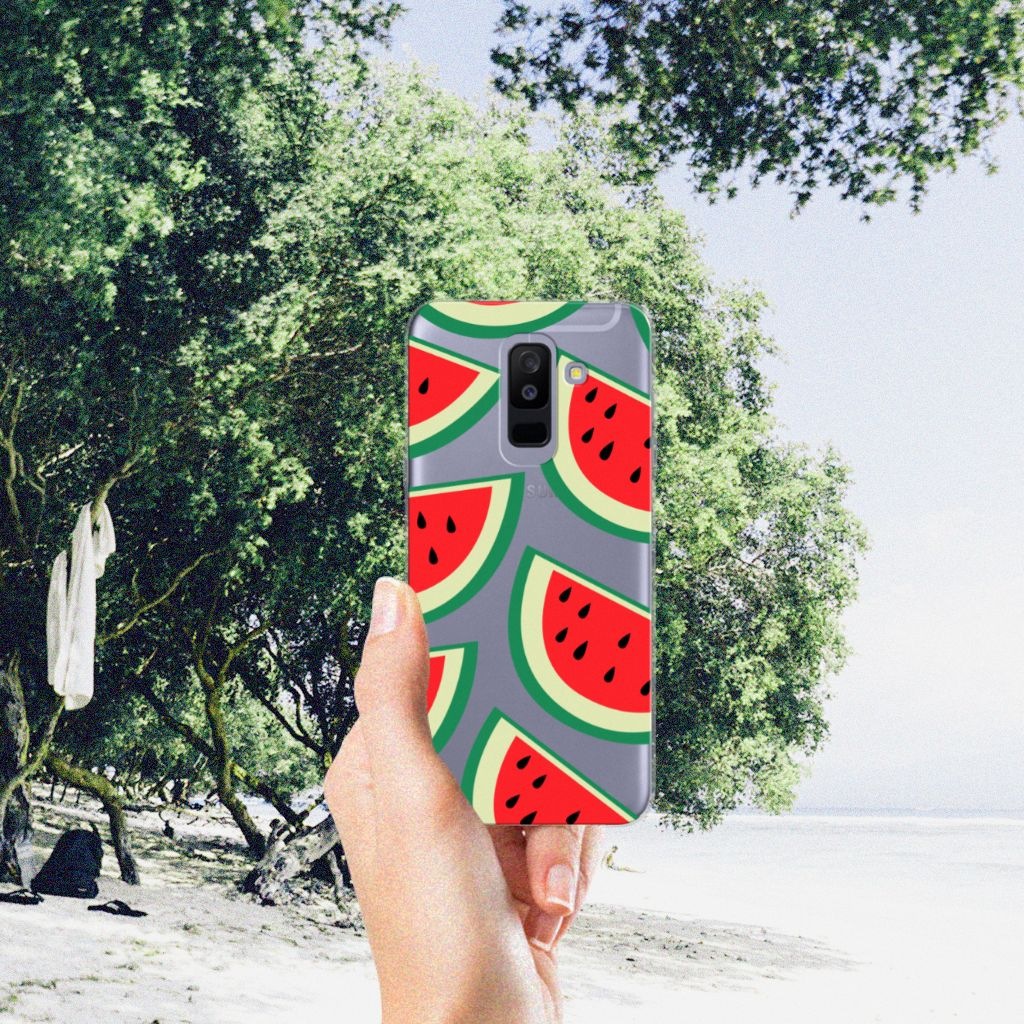 Samsung Galaxy A6 Plus (2018) Siliconen Case Watermelons