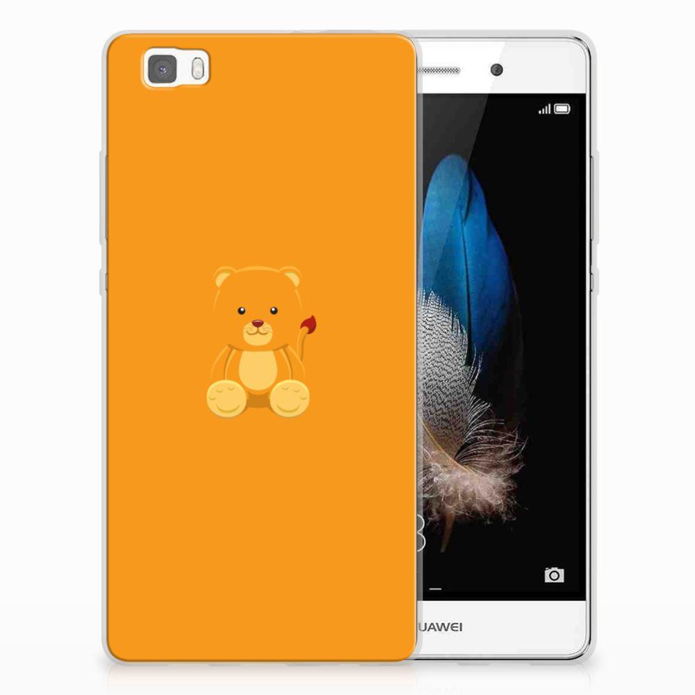 Huawei Ascend P8 Lite Telefoonhoesje met Naam Baby Beer