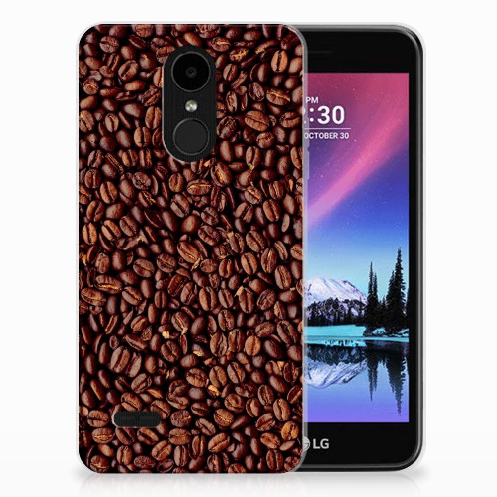 LG K4 (2017) Siliconen Case Koffiebonen