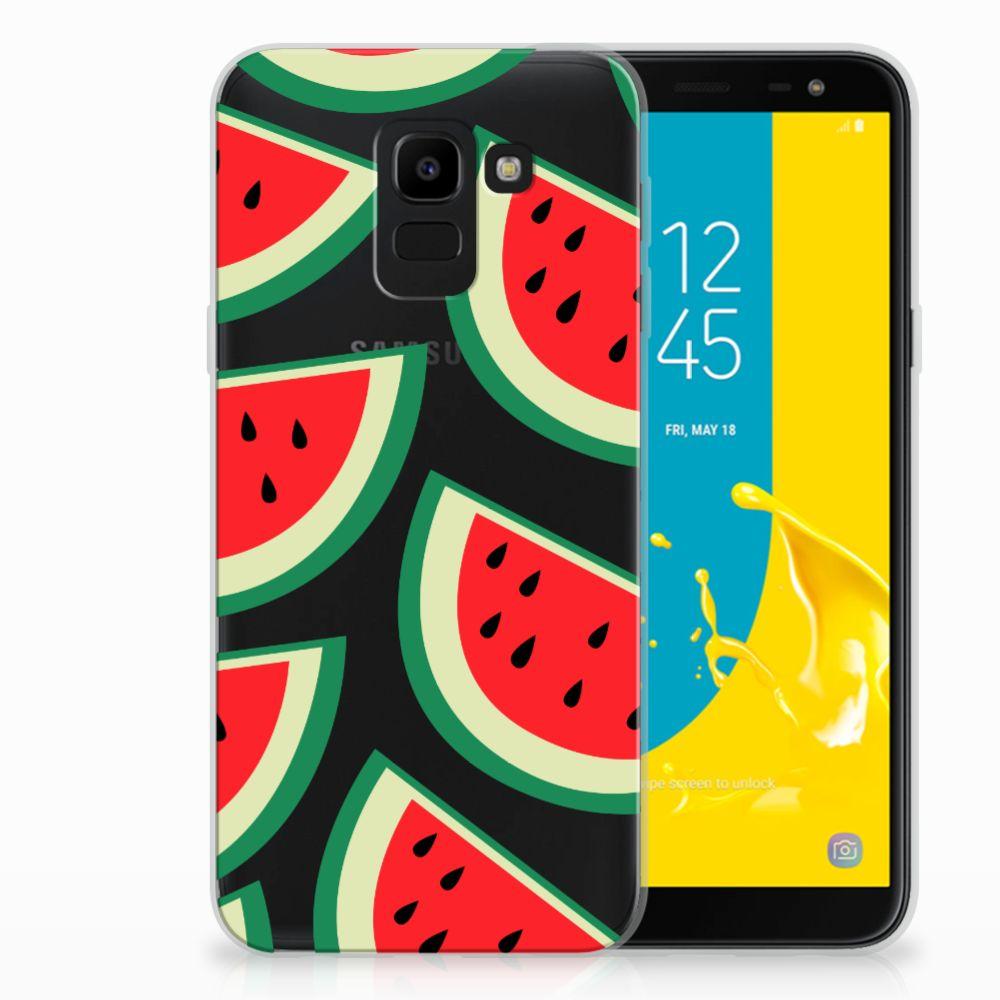 Samsung Galaxy J6 2018 Siliconen Case Watermelons