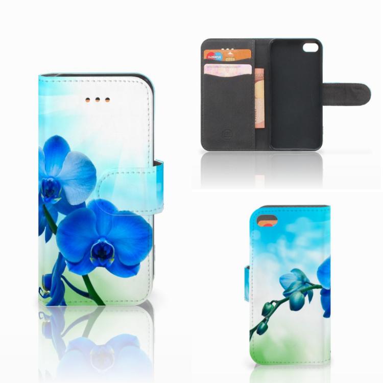 Apple iPhone 5C Hoesje Orchidee Blauw