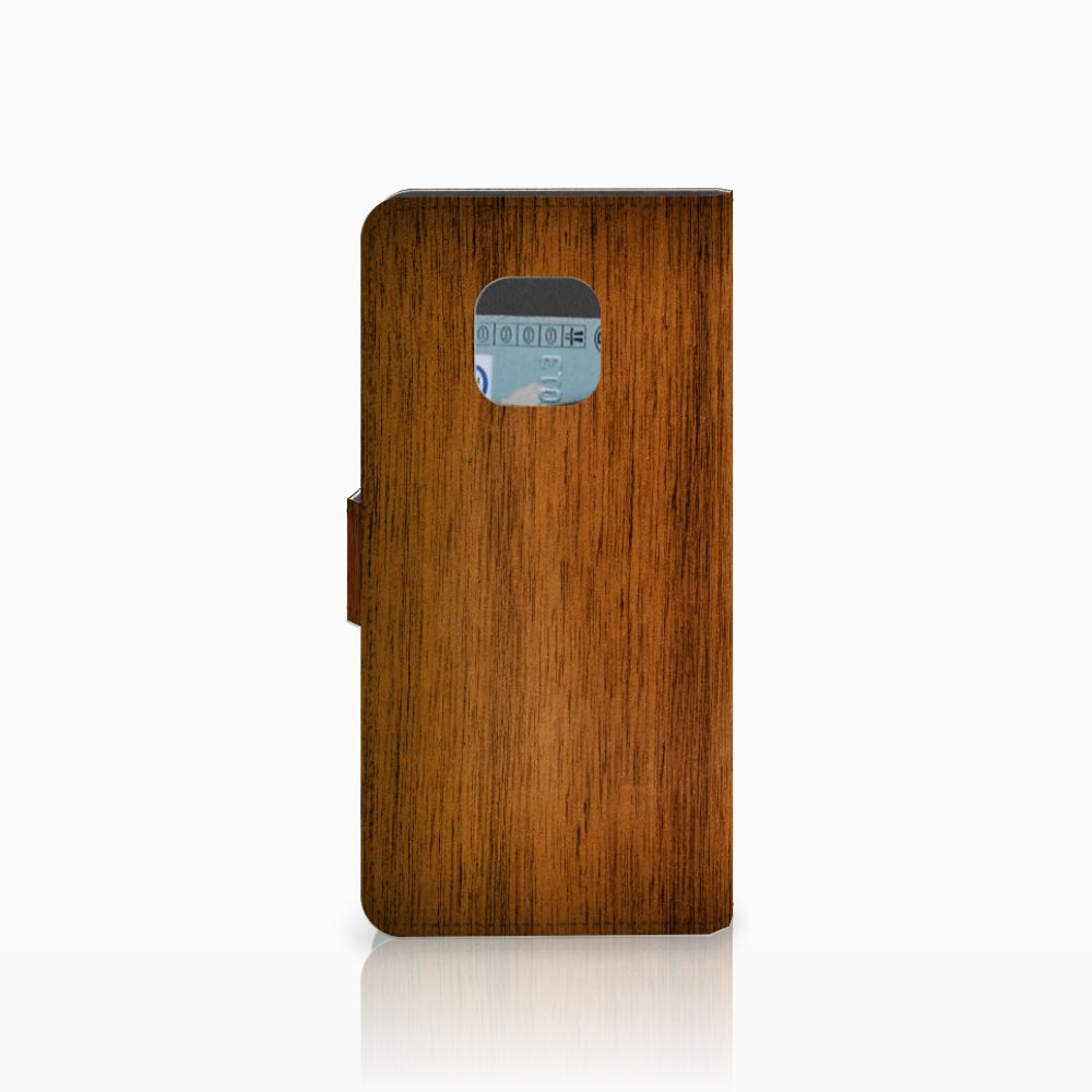 Huawei Mate 20 Pro Book Style Case Donker Hout