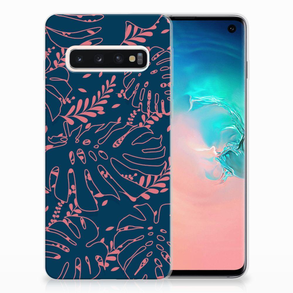 Samsung Galaxy S10 TPU Hoesje Design Palm Leaves