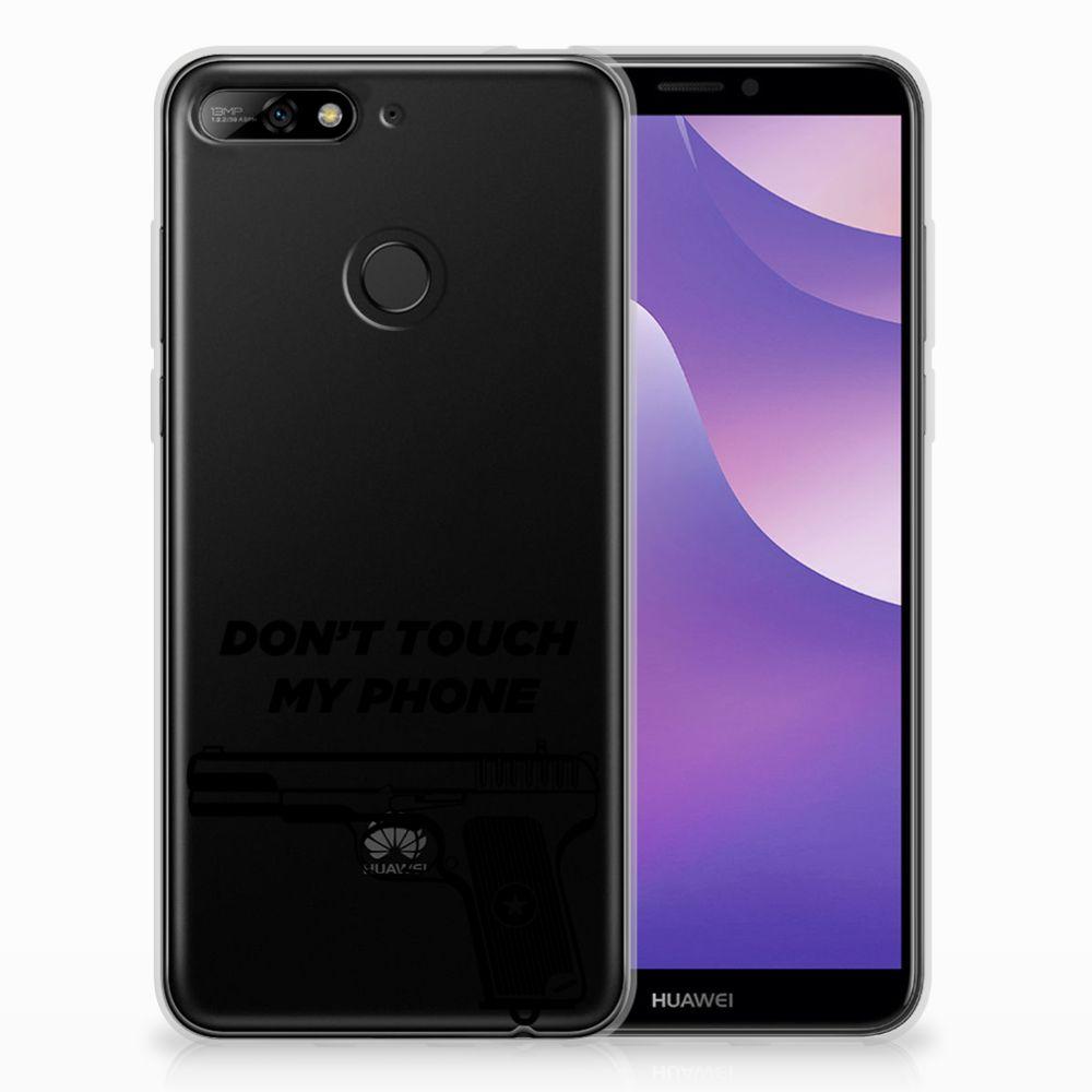 Huawei Y6 (2018) Uniek TPU Hoesje Pistol DTMP