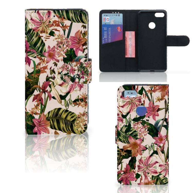 Motorola Moto E6 Play Hoesje Flowers