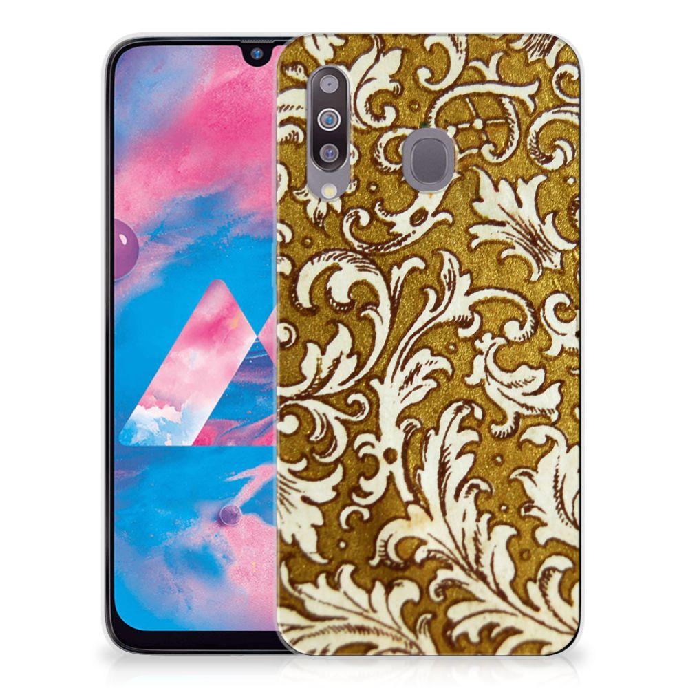 Siliconen Hoesje Samsung Galaxy M30 Barok Goud