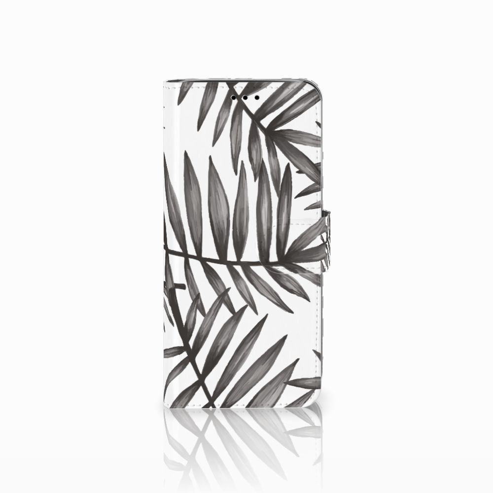 Samsung Galaxy A6 2018 Uniek Boekhoesje Leaves Grey