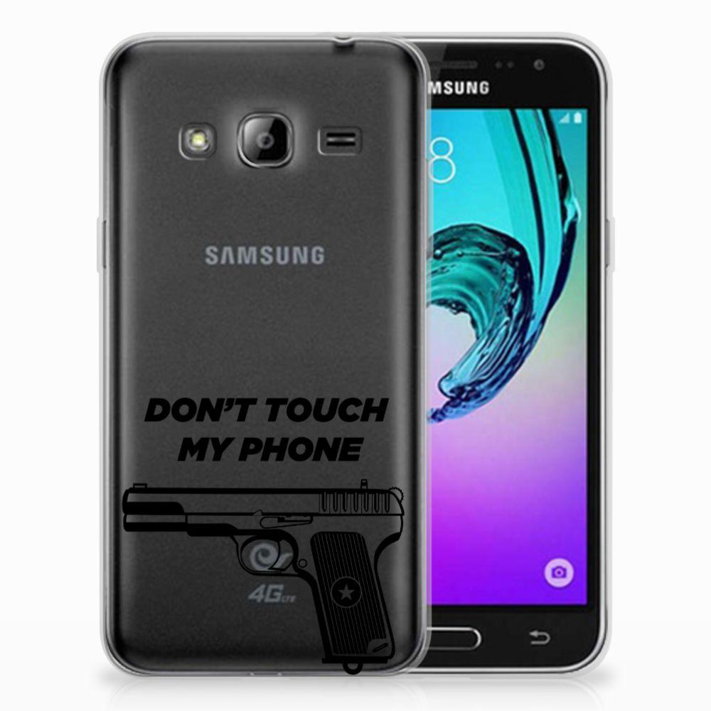 Samsung Galaxy J3 2016 Uniek TPU Hoesje Pistol DTMP