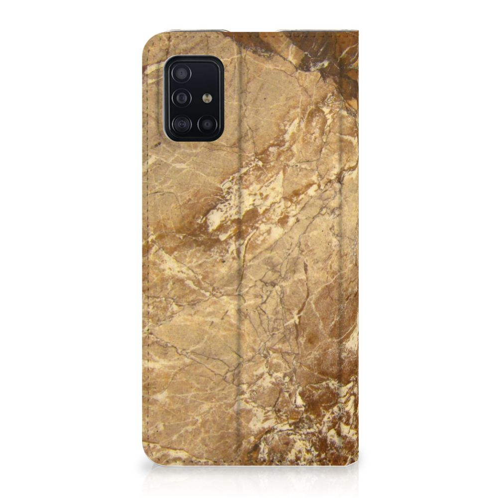 Samsung Galaxy A51 Standcase Marmer Creme