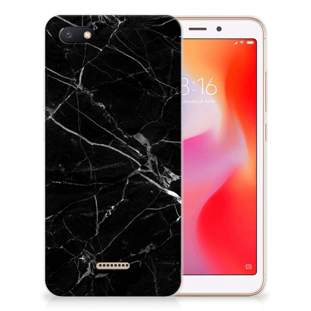 Xiaomi Redmi 6A TPU Siliconen Hoesje Marmer Zwart