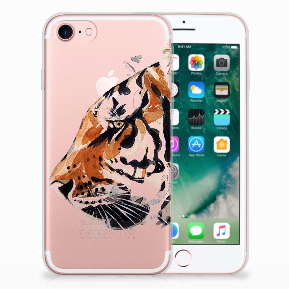Apple iPhone 7 | 8 Uniek TPU Hoesje Watercolor Tiger