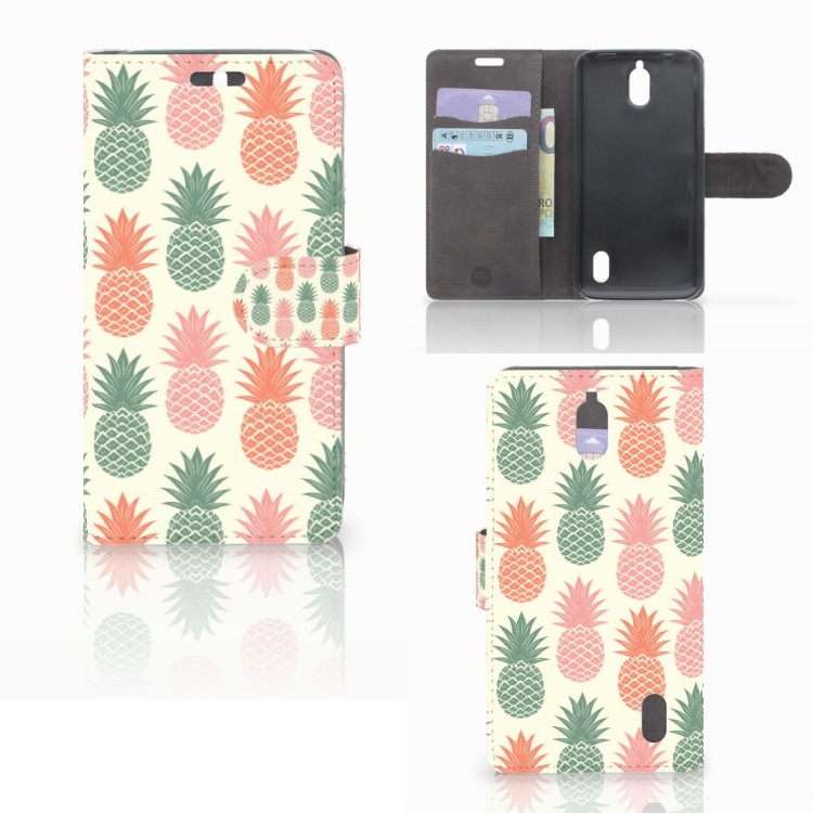 Huawei Y625 Book Cover Ananas