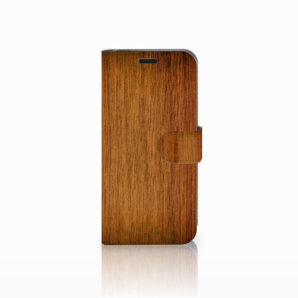 Acer Liquid Z630 | Z630s Uniek Boekhoesje Donker Hout