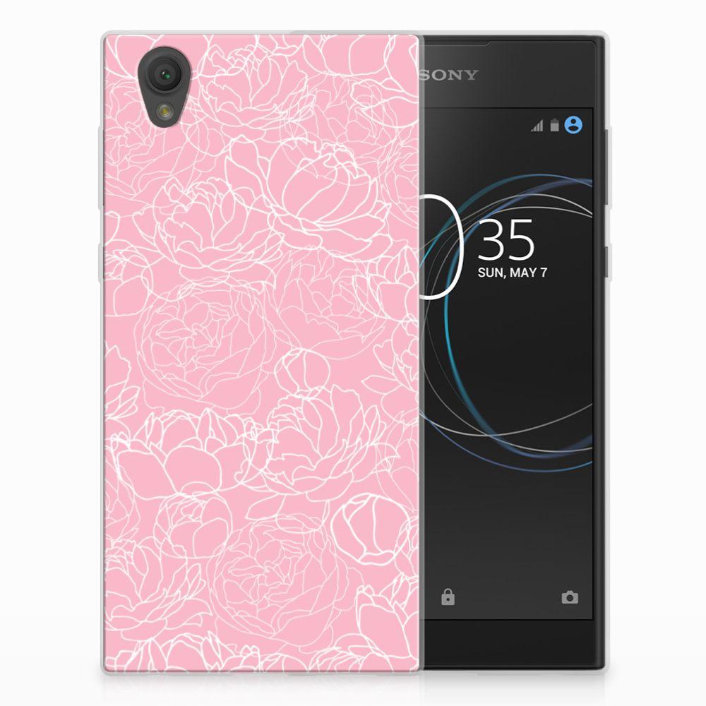 Sony Xperia L1 TPU Hoesje Design White Flowers