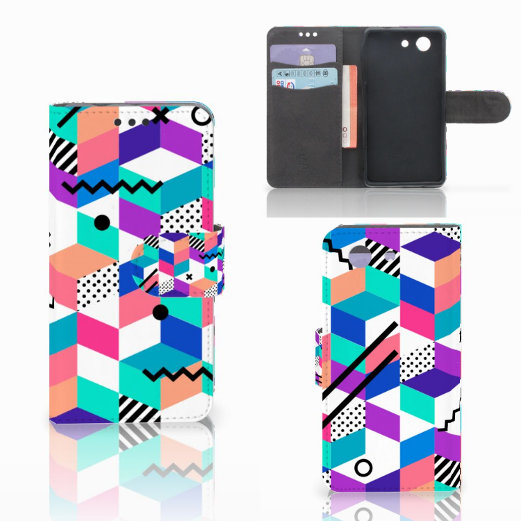Sony Xperia Z3 Compact Bookcase Blokken Kleurrijk