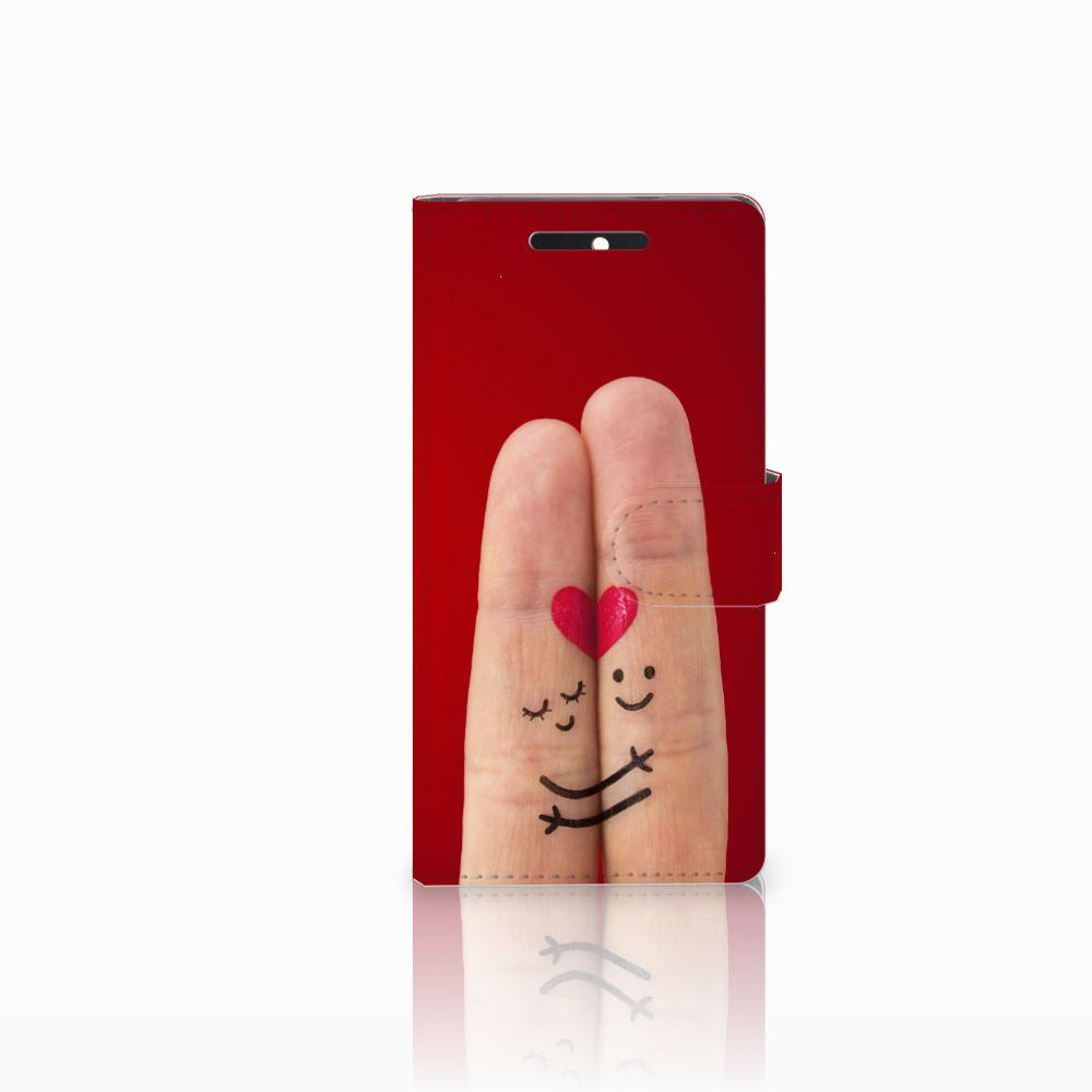 HTC Desire 628 Uniek Boekhoesje Liefde