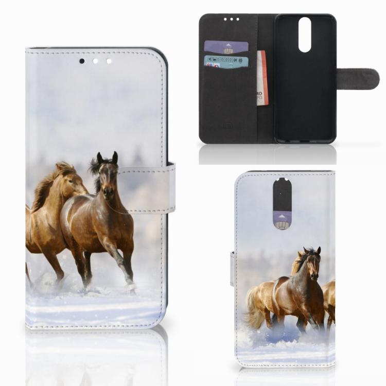 Huawei Mate 10 Lite Telefoonhoesje met Pasjes Paarden