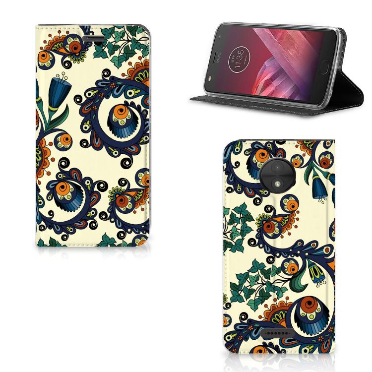Telefoon Hoesje Motorola Moto C Barok Flower