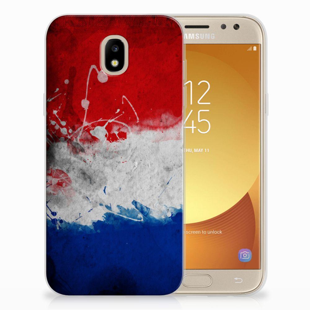 Samsung Galaxy J5 2017 Uniek TPU Hoesje Nederlandse Vlag