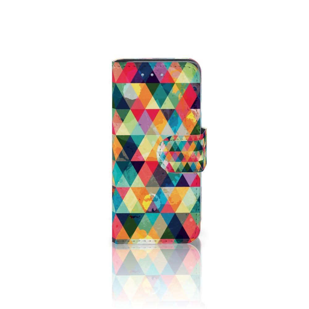 Samsung Galaxy S4 Mini i9190 Uniek Boekhoesje Geruit