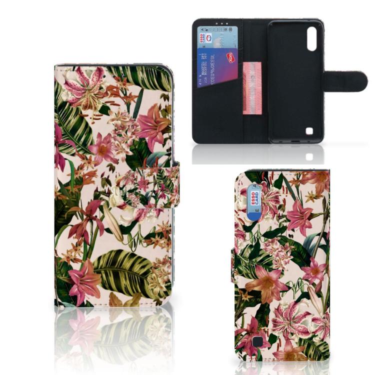 Samsung Galaxy M10 Hoesje Flowers