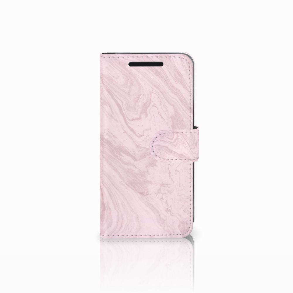 HTC One M9 Bookcase Marble Pink
