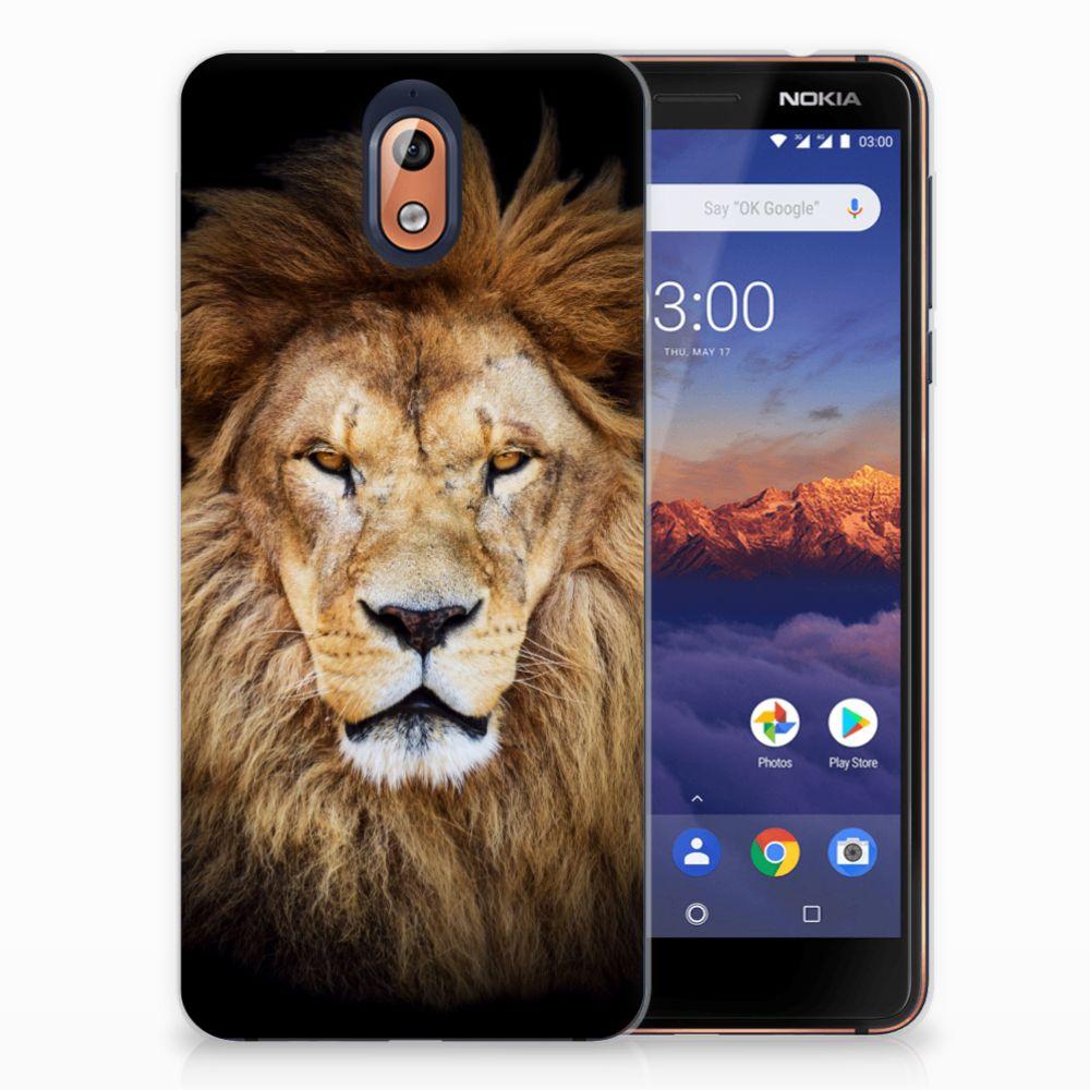 Nokia 3.1 (2018) TPU Hoesje Design Leeuw