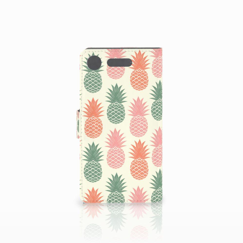 Sony Xperia XZ1 Book Cover Ananas