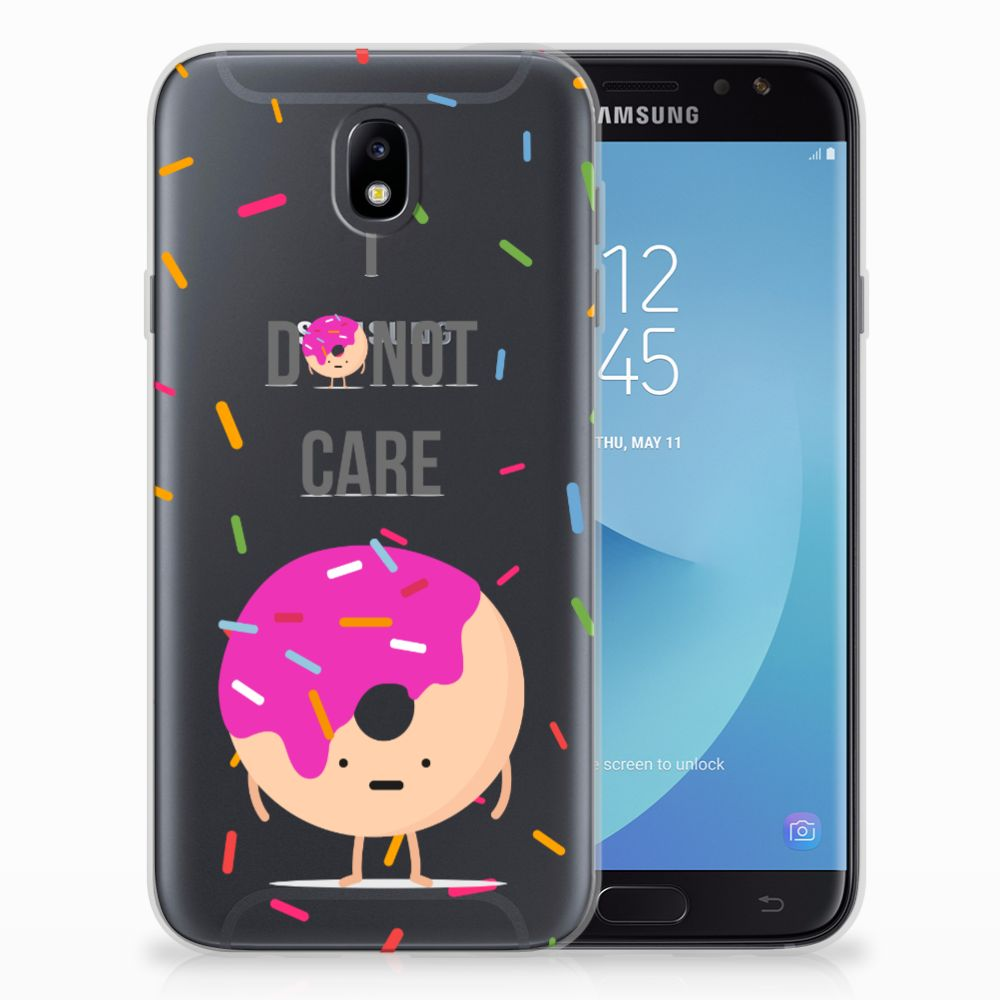 Samsung Galaxy J7 2017 | J7 Pro Siliconen Case Donut Roze