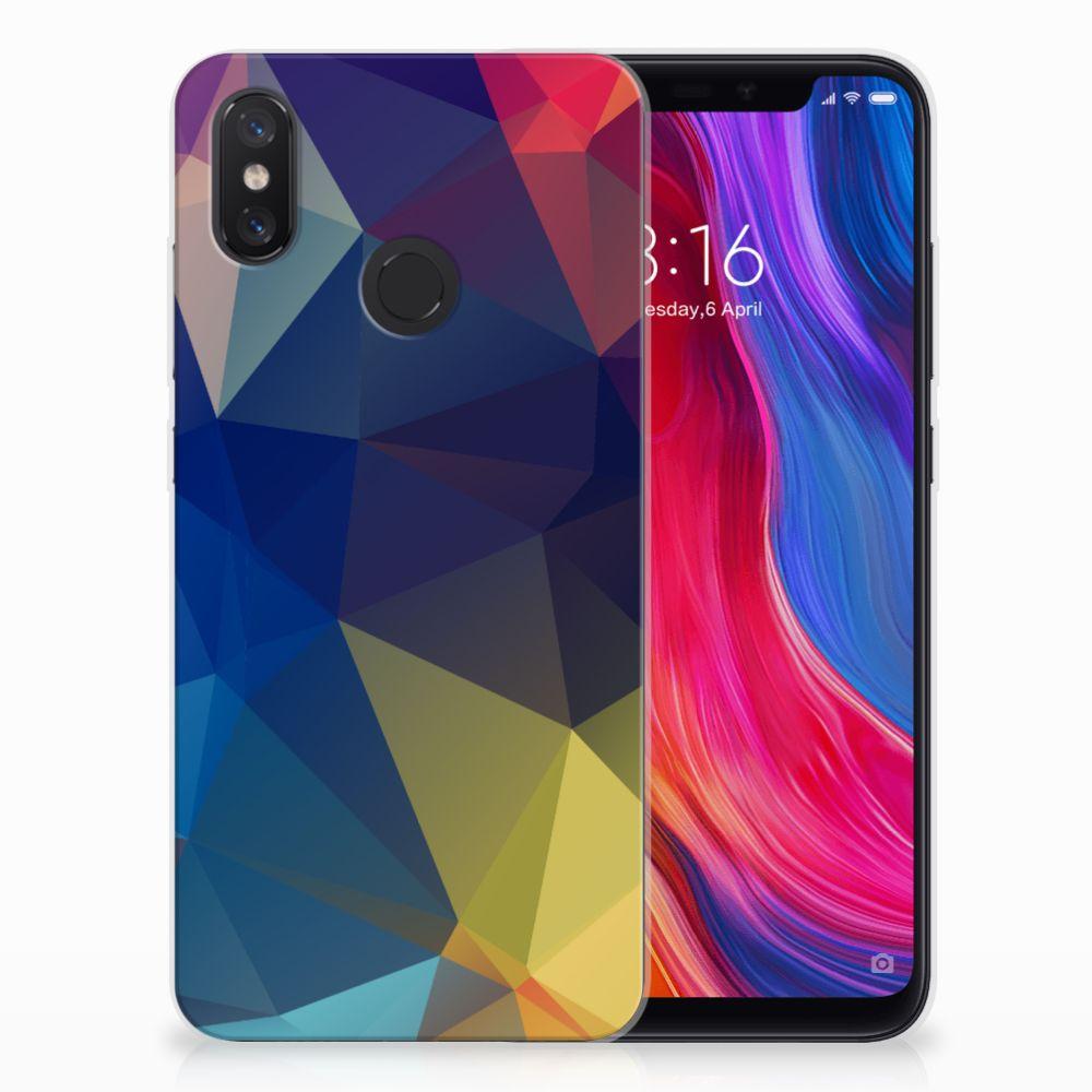 Xiaomi Mi 8 TPU Hoesje Polygon Dark