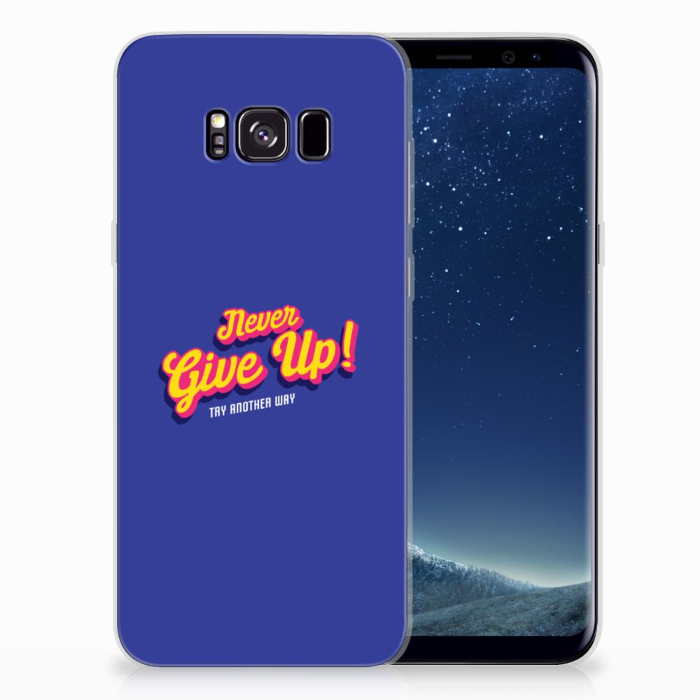 Samsung Galaxy S8 Plus Siliconen hoesje met naam Never Give Up