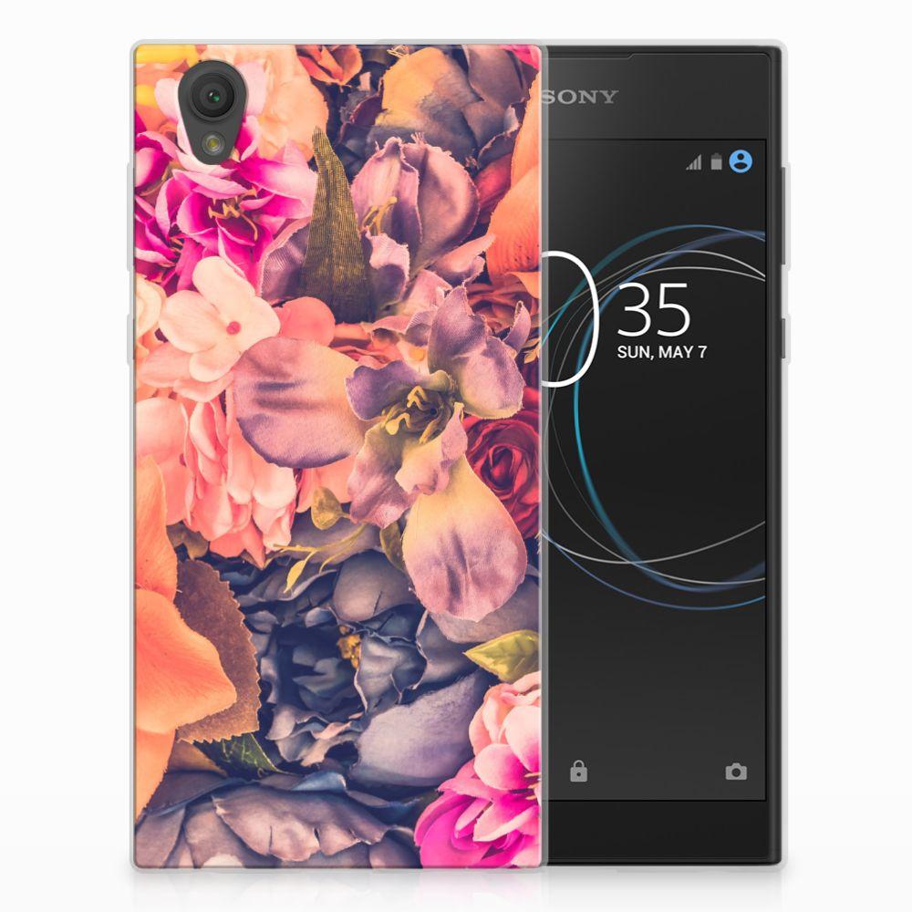 Sony Xperia L1 TPU Hoesje Design Bosje Bloemen