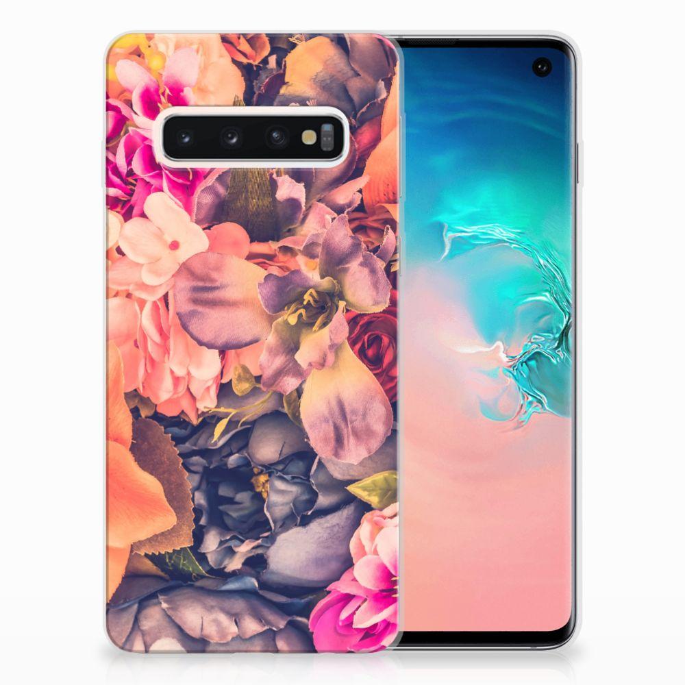 Samsung Galaxy S10 TPU Hoesje Design Bosje Bloemen