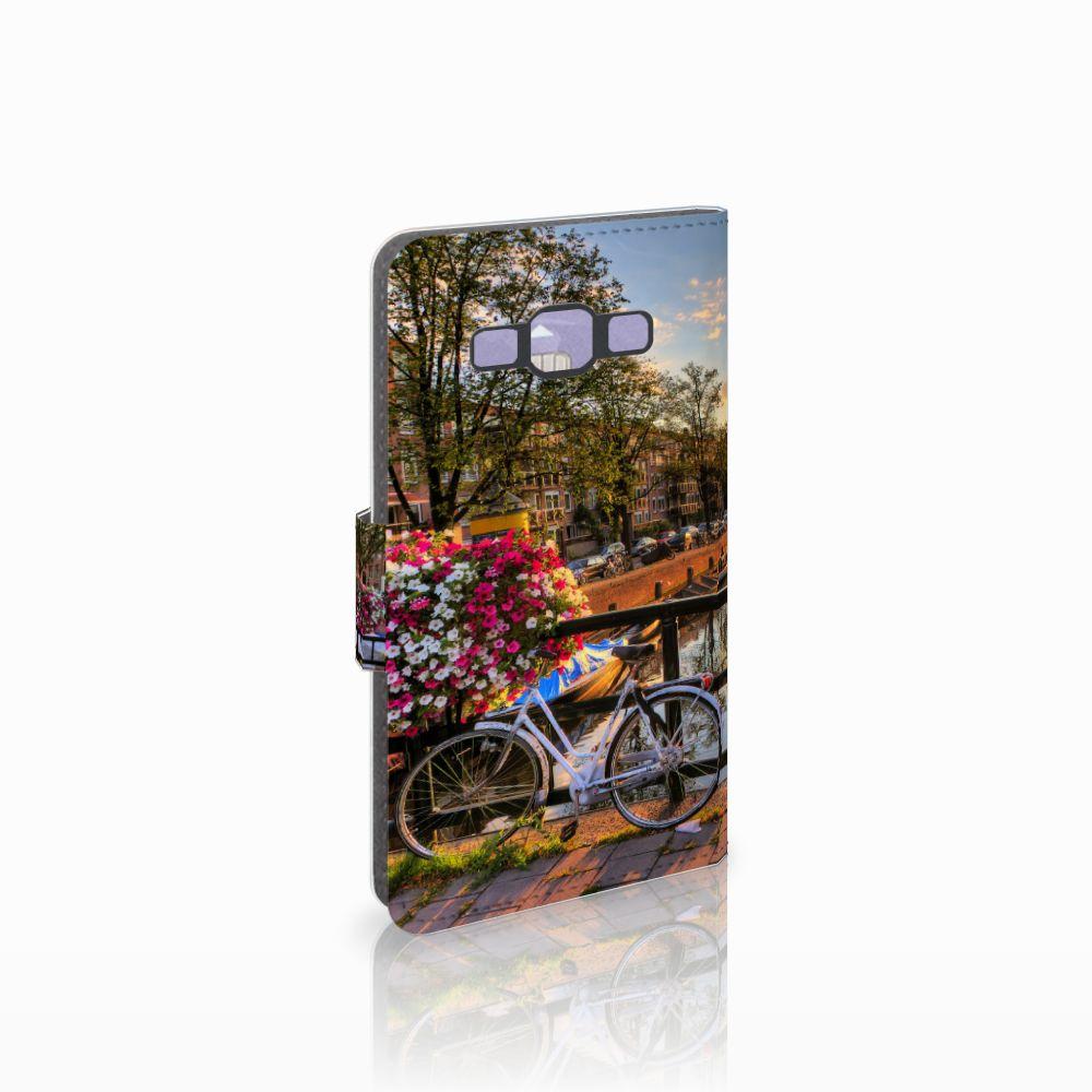 Samsung Galaxy A3 2015 Uniek Boekhoesje Amsterdamse Grachten