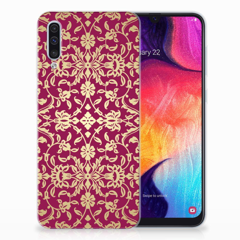 Siliconen Hoesje Samsung Galaxy A50 Barok Pink