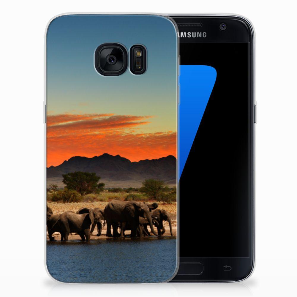 Samsung Galaxy S7 TPU Hoesje Olifanten