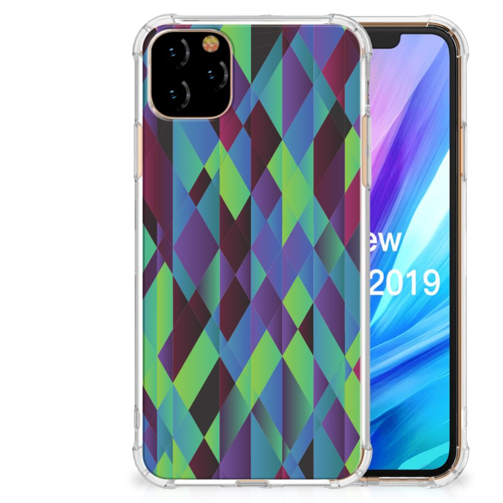 Apple iPhone 11 Pro Max Shockproof Case Abstract Green Blue