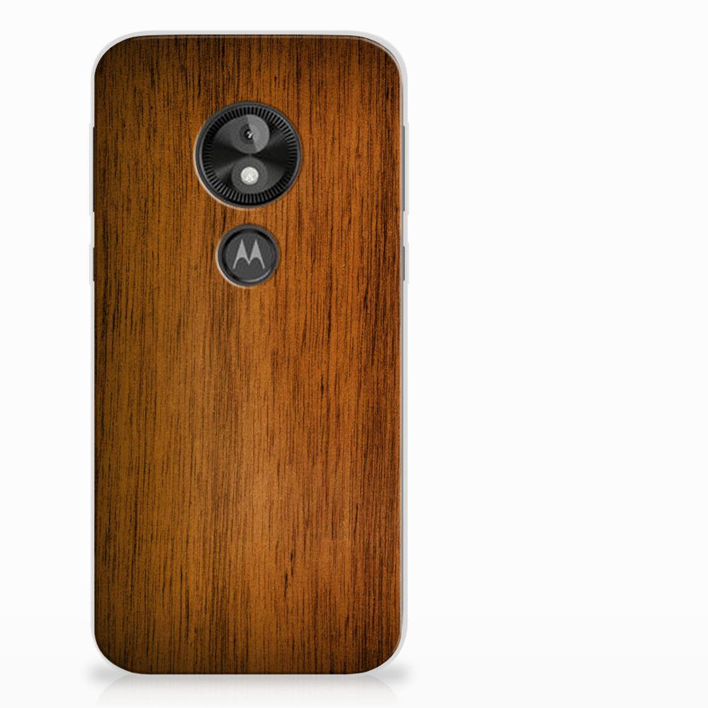 Motorola Moto E5 Play Uniek TPU Hoesje Donker Hout