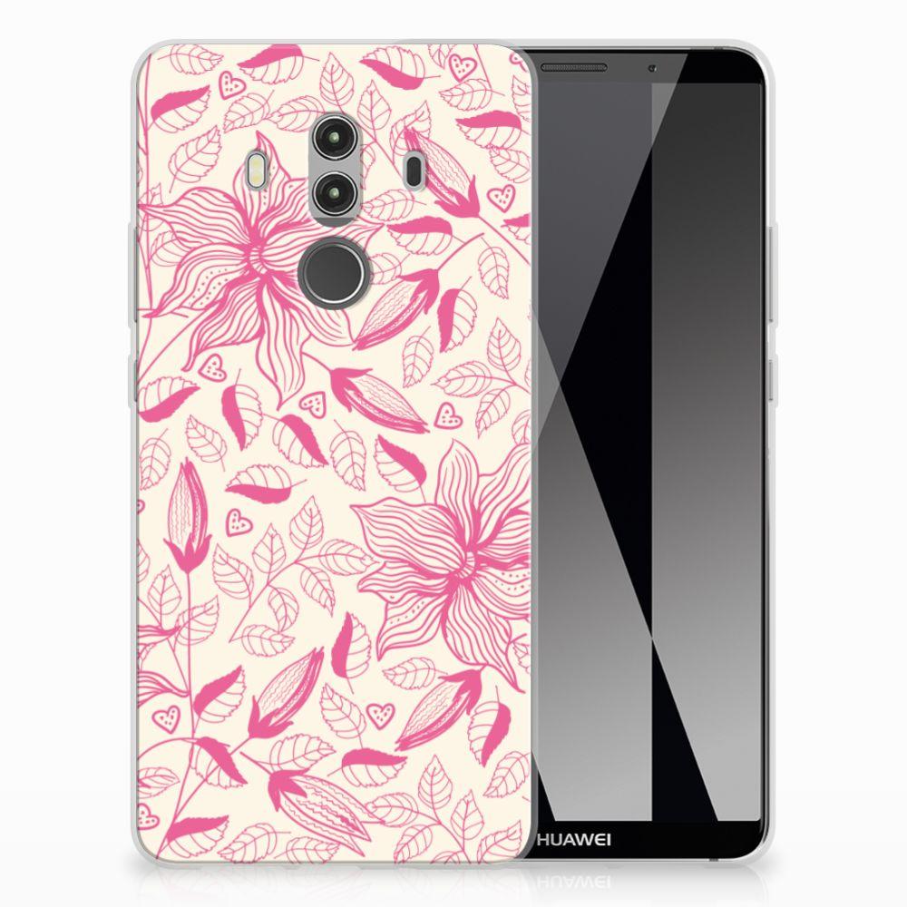 Huawei Mate 10 Pro Uniek TPU Hoesje Pink Flowers