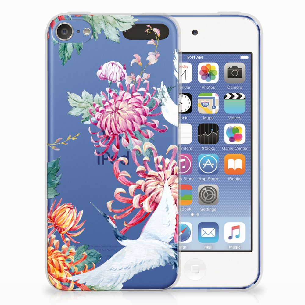 Apple iPod Touch 5 | 6 TPU Hoesje Bird Flowers