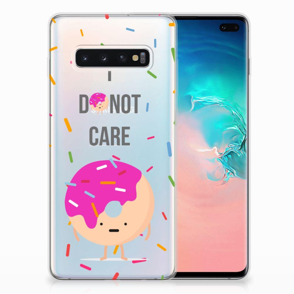 Samsung Galaxy S10 Plus Siliconen Case Donut Roze