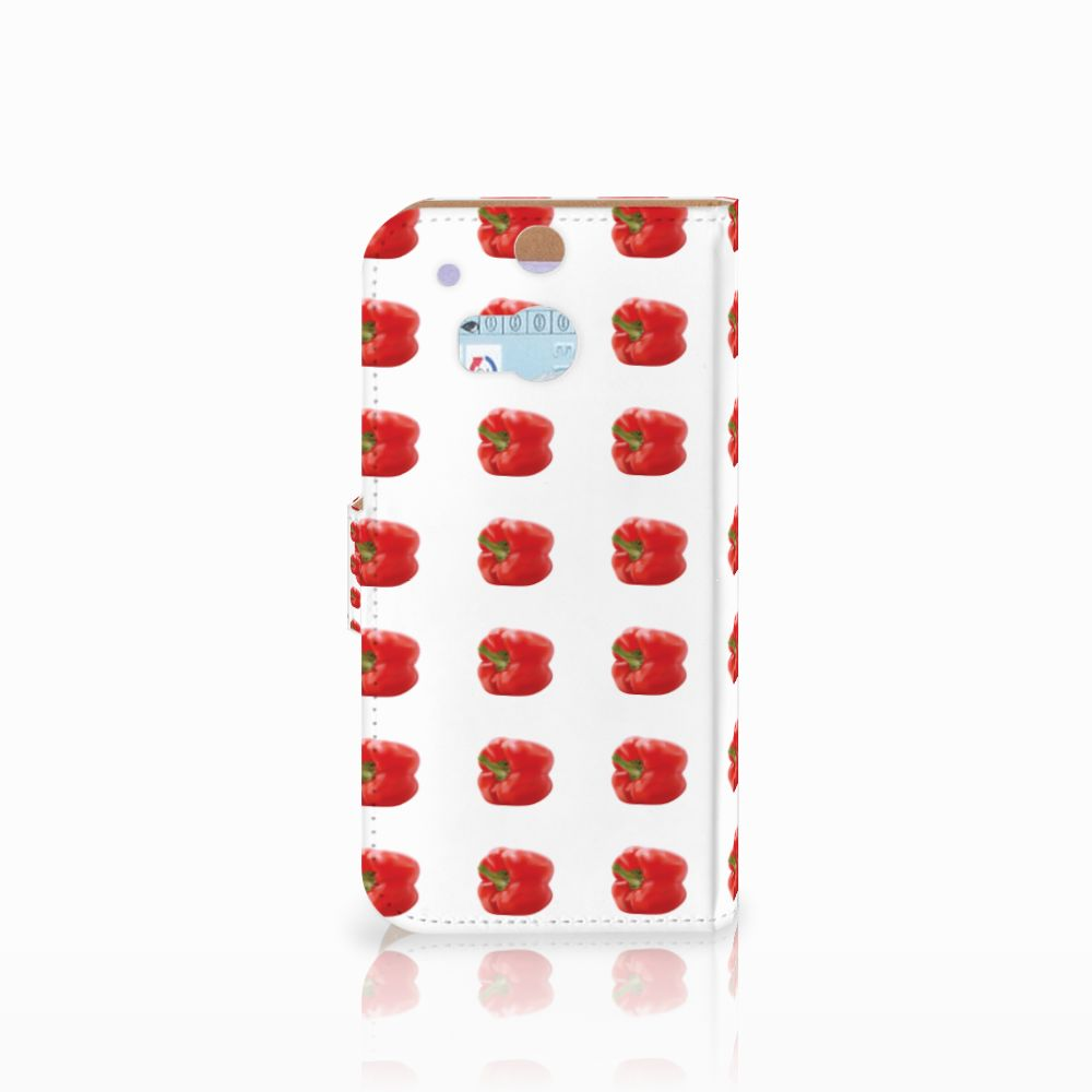 HTC One M8 Book Cover Paprika Red